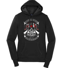 The Right to Bear Arms. Shall Not Be Infringed. Since 1791. Women's: Sport-Tek Ladies Pullover Hooded Sweatshirt.