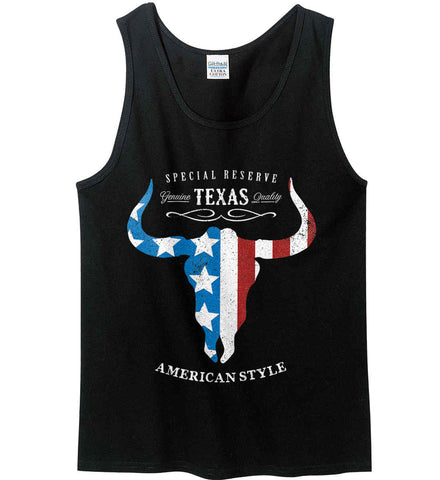 Special Reserve. Texas Quality. Gildan 100% Cotton Tank Top.