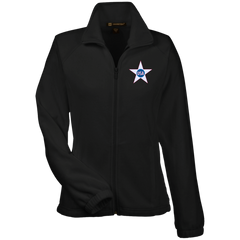USA. Inside Star. Red, White and Blue. Women's: Harriton Women's Fleece Jacket. (Embroidered)