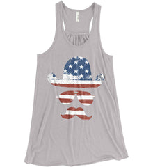 Do you even know how to Patriot Bro? Women's: Bella + Canvas Flowy Racerback Tank.