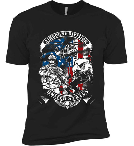 Airborne Division. United States. Next Level Premium Short Sleeve T-Shirt.