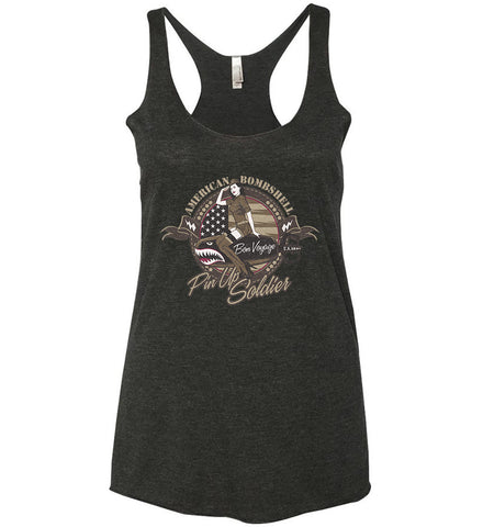 American Bombshell. Women's: Next Level Ladies Ideal Racerback Tank.