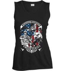Airborne Division. United States. Women's: Sport-Tek Ladies' Sleeveless Moisture Absorbing V-Neck.