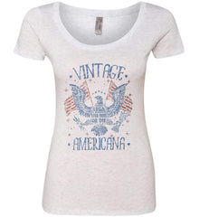 Vintage Americana Faded Grunge Women's: Next Level Ladies' Triblend Scoop.