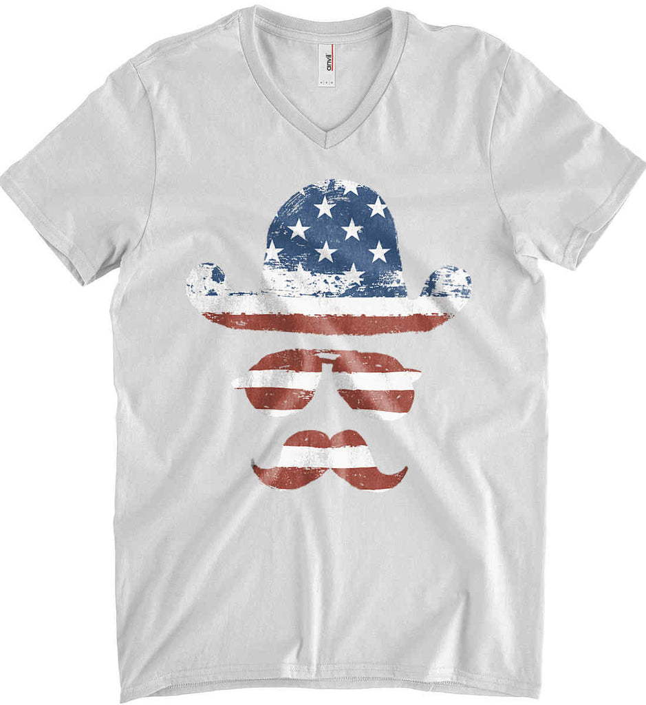 Do you even know how to Patriot Bro? Anvil Men's Printed V-Neck T-Shirt.-2