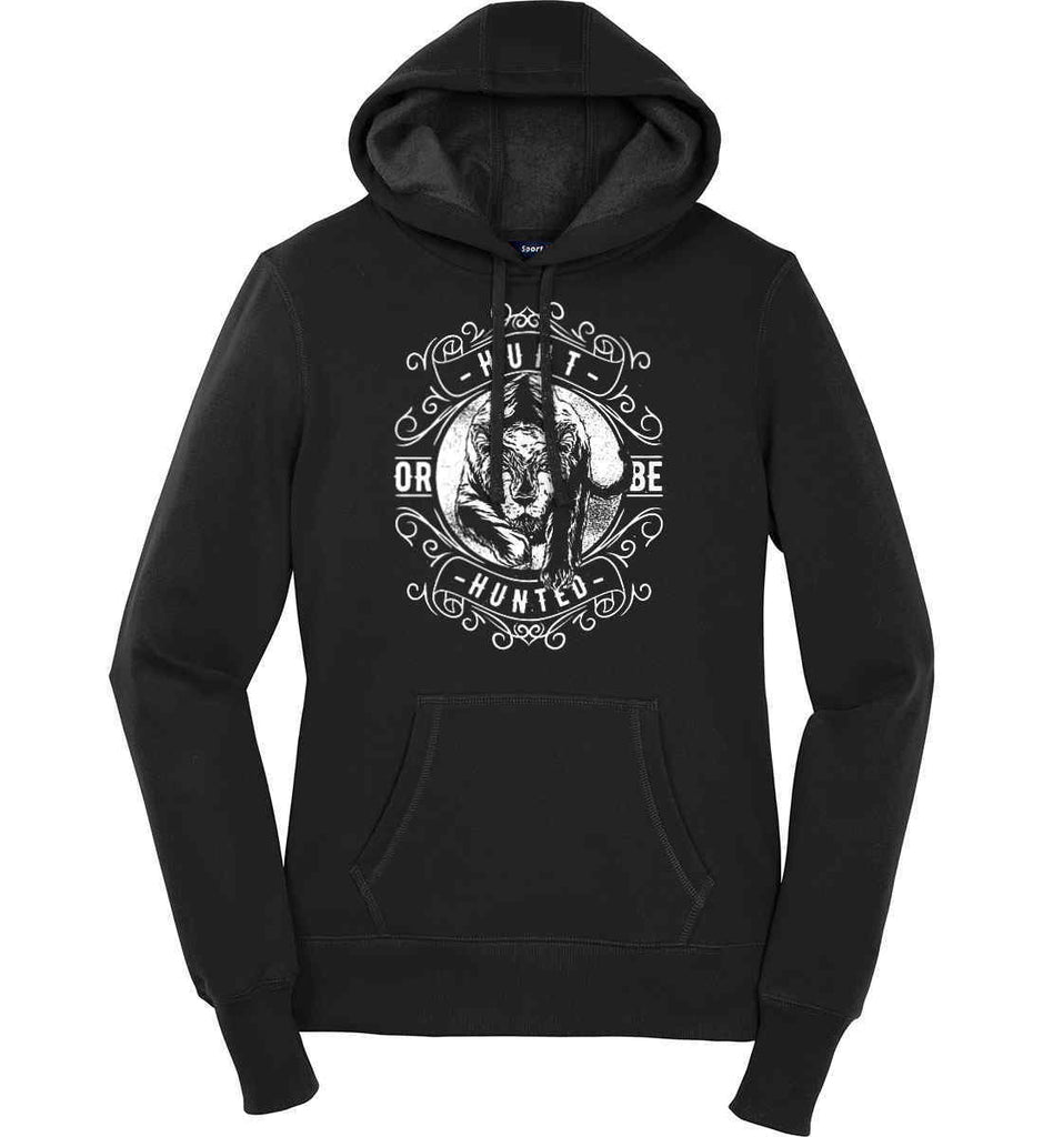 Hunt or be Hunted. Women's: Sport-Tek Ladies Pullover Hooded Sweatshirt.-4