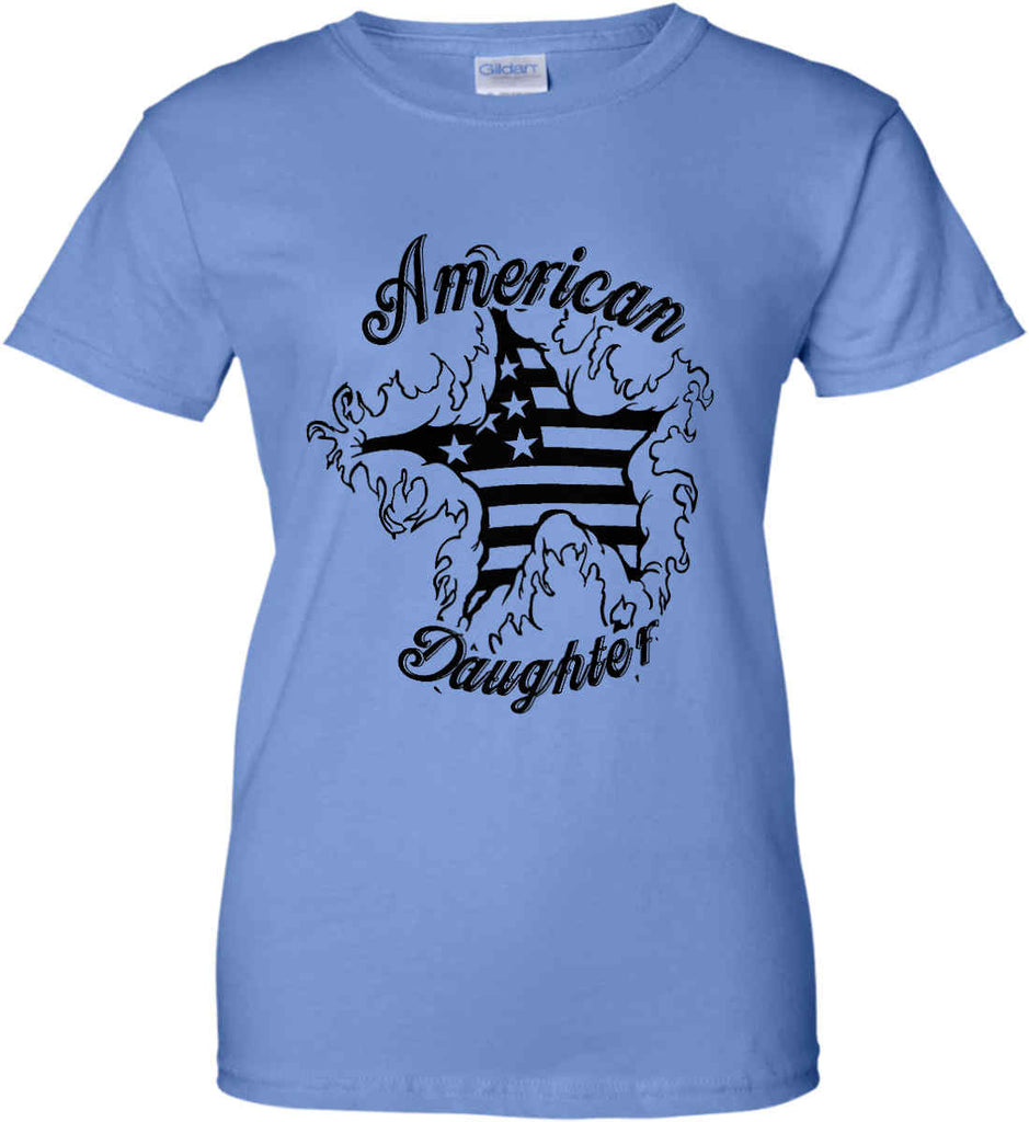 American Daughter. Women's Patriot Design. Women's: Gildan Ladies' 100% Cotton T-Shirt.-7