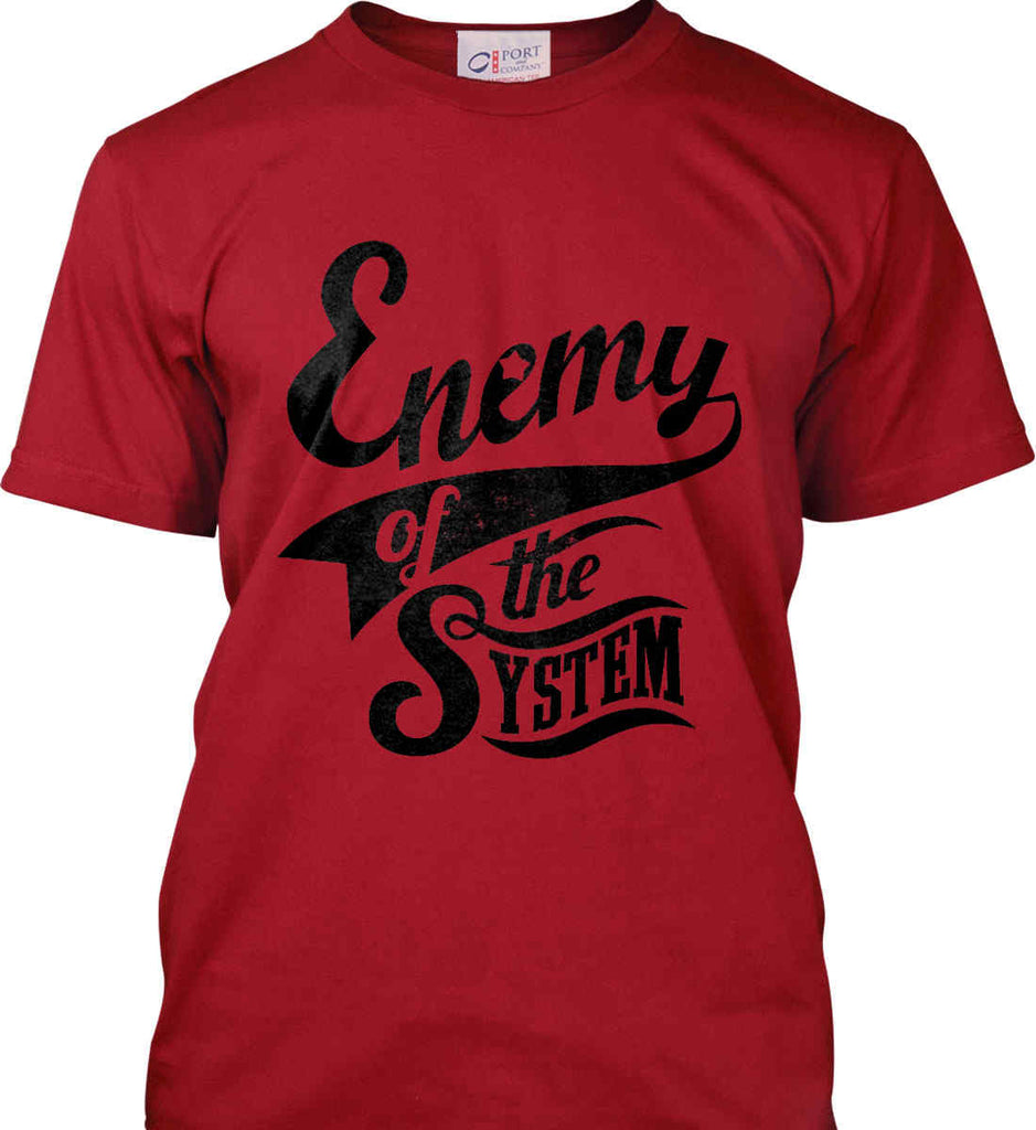 Enemy of The System. Port & Co. Made in the USA T-Shirt.-3
