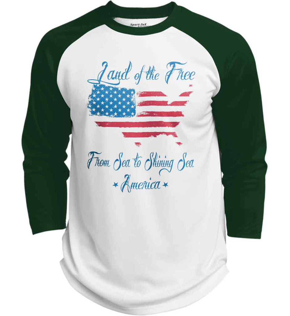 Land of the Free. From sea to shining sea. Sport-Tek Polyester Game Baseball Jersey.-4