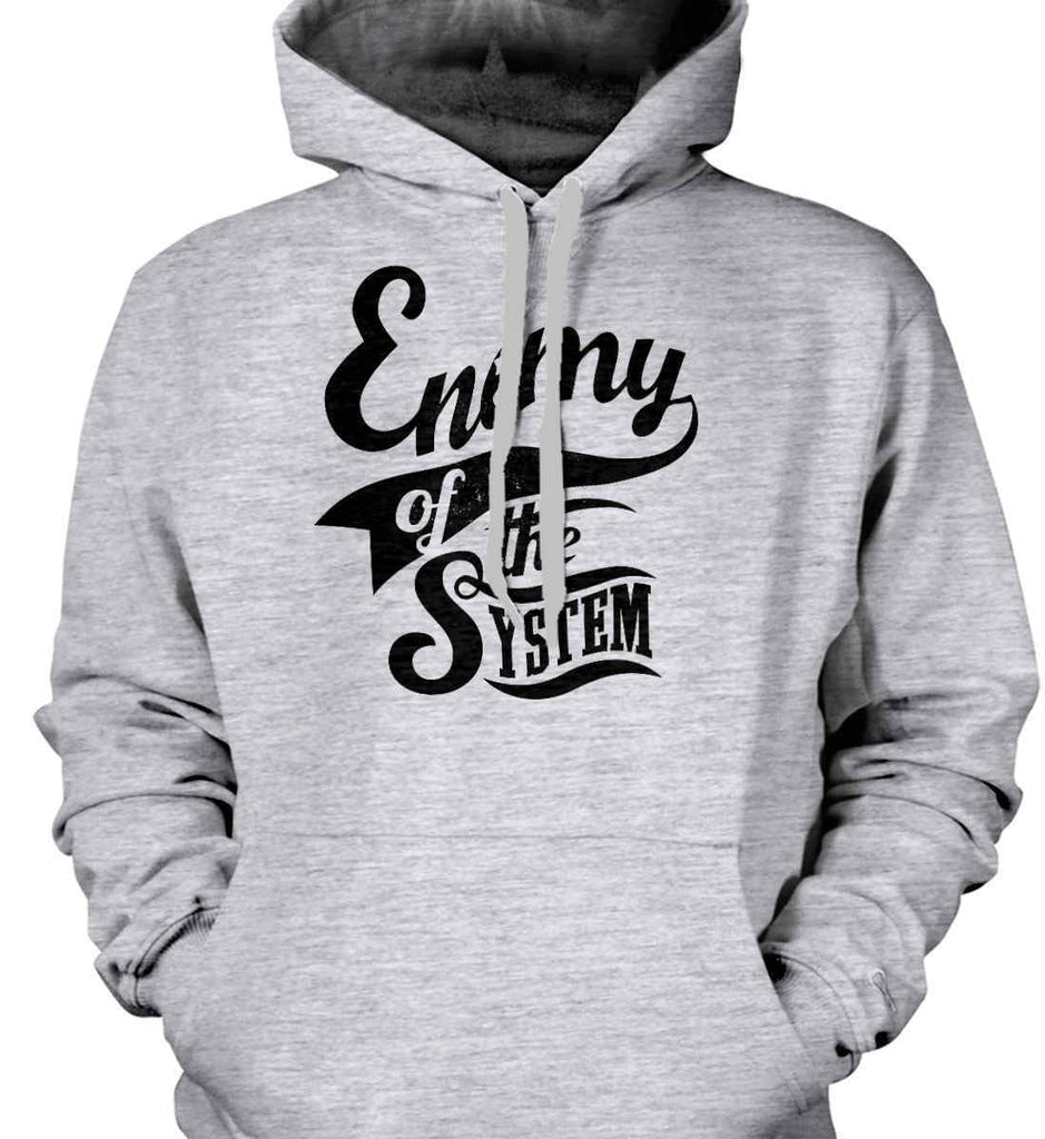 Enemy of The System. Gildan Heavyweight Pullover Fleece Sweatshirt.-2