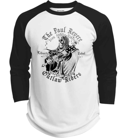 The Paul Revere Outlaw Riders. Black Print. Sport-Tek Polyester Game Baseball Jersey.