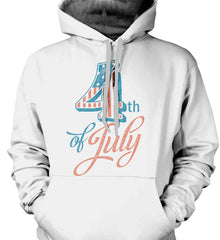 4th of July. Faded Grunge. Gildan Heavyweight Pullover Fleece Sweatshirt.