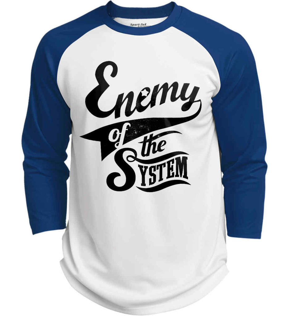 Enemy of The System. Sport-Tek Polyester Game Baseball Jersey.-7