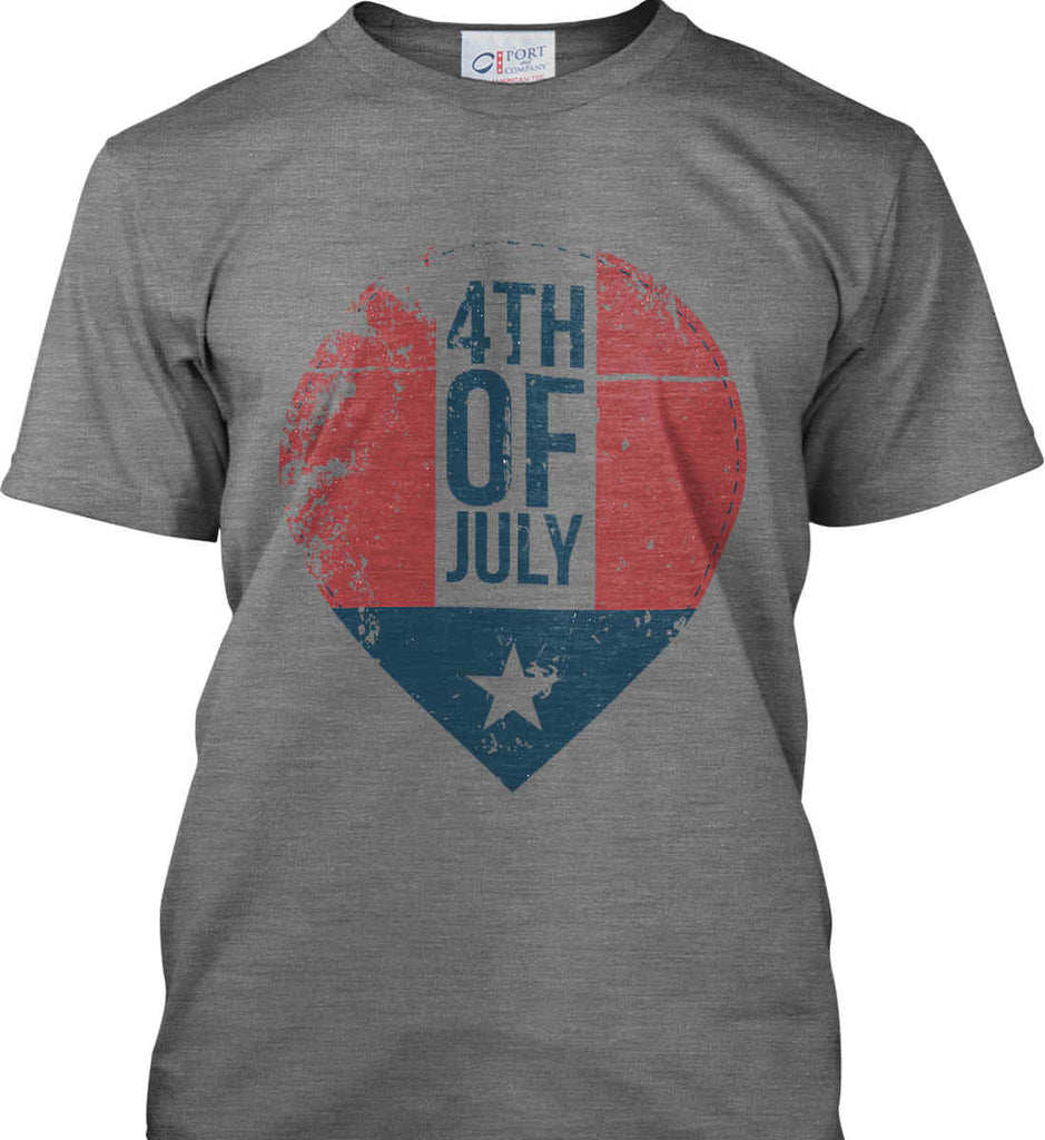 4th of July with Star. Port & Co. Made in the USA T-Shirt.-2