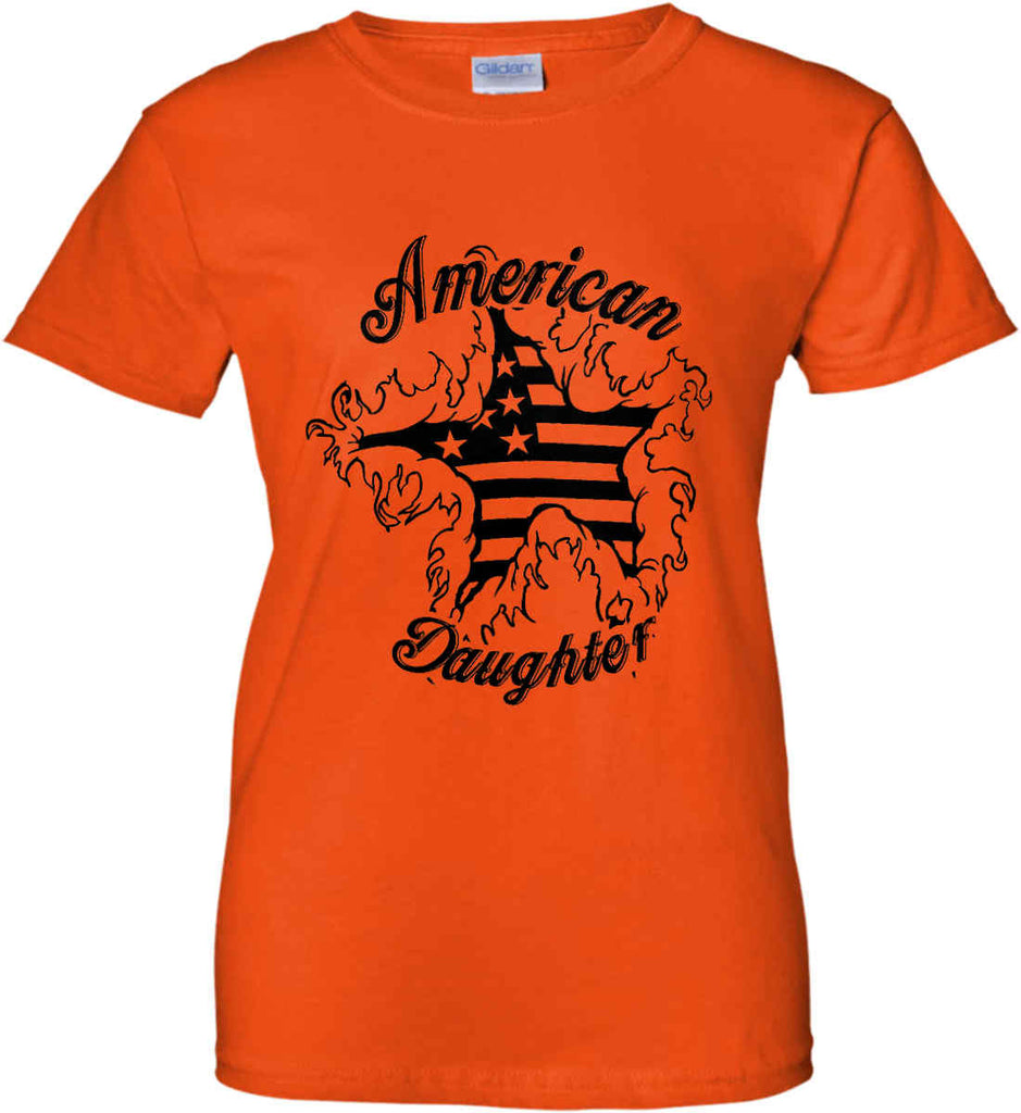 American Daughter. Women's Patriot Design. Women's: Gildan Ladies' 100% Cotton T-Shirt.-12