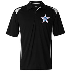 USA. Inside Star. Red, White and Blue. Augusta Premier Sport Shirt. (Embroidered)