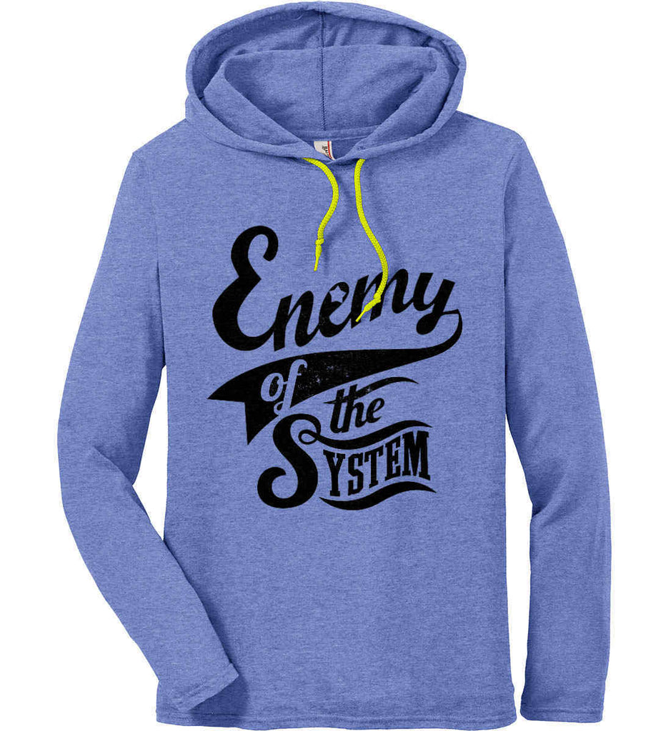 Enemy of The System. Anvil Long Sleeve T-Shirt Hoodie.-2