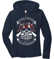 The Right to Bear Arms. Shall Not Be Infringed. Since 1791. Women's: Anvil Ladies' Long Sleeve T-Shirt Hoodie.
