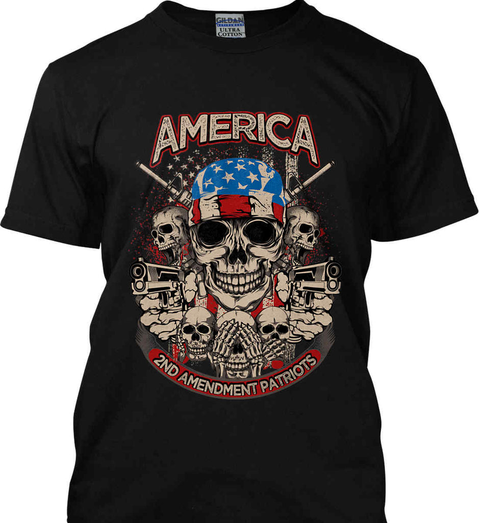 America. 2nd Amendment Patriots. Gildan Ultra Cotton T-Shirt.-1