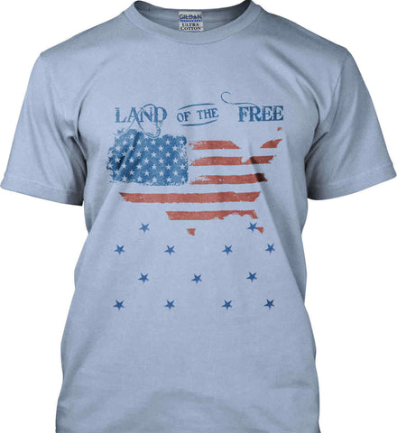 Land of the Free. Gildan Ultra Cotton T-Shirt.