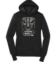 7% of Americans Have Worn a Military Uniform. I am proud to be one of them. Women's: Sport-Tek Ladies Pullover Hooded Sweatshirt.