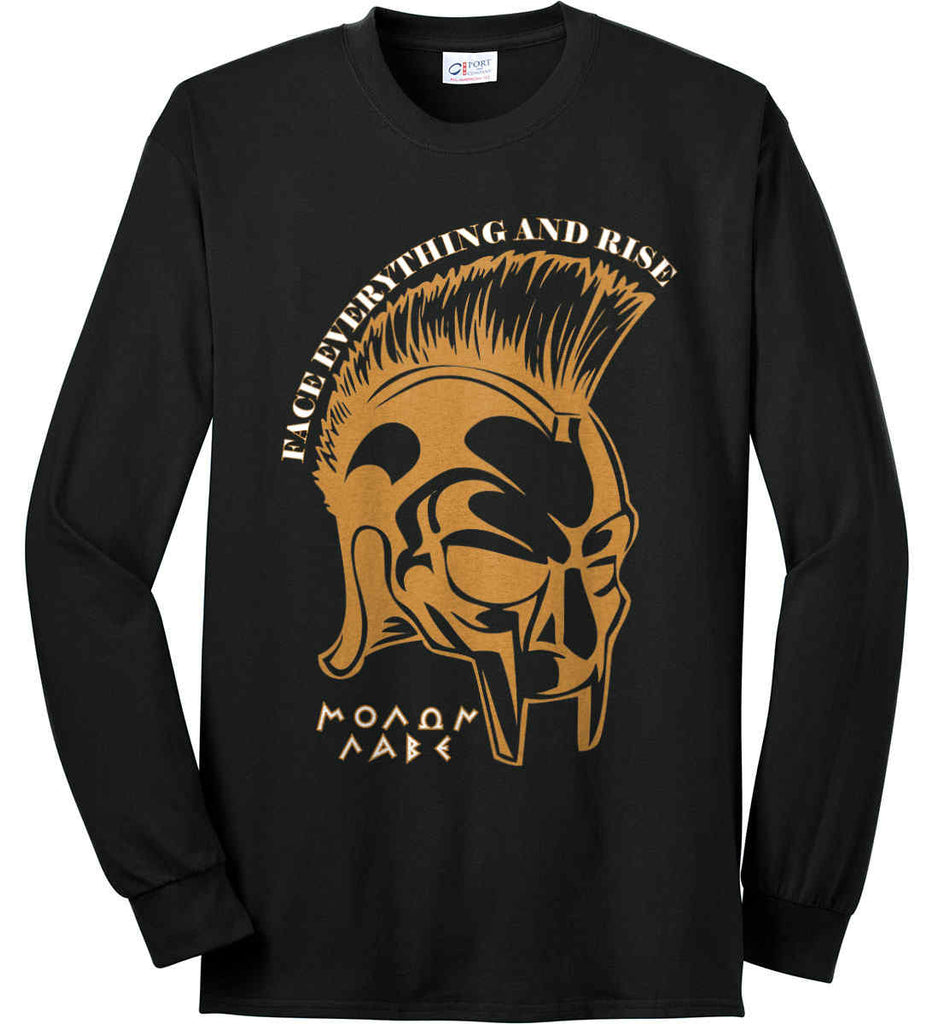 4f91a185 Face Everything and Rise. Molon Labe. Port & Co. Long Sleeve Shirt.