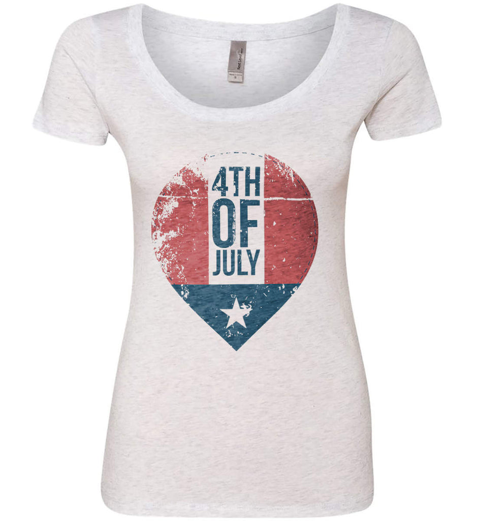 4th of July with Star. Women's: Next Level Ladies' Triblend Scoop.-1