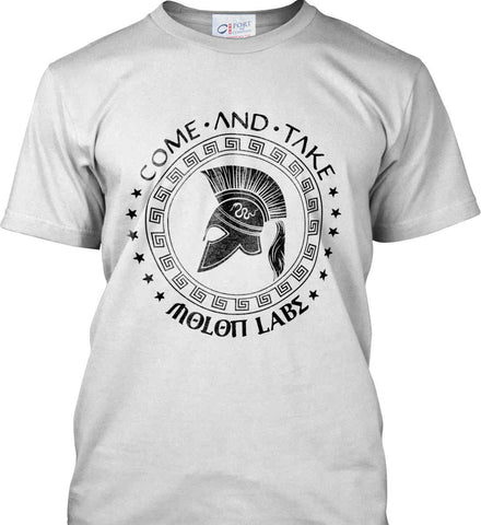 Come And Take - Molon Labe Spartan Second Amendment. Black Print. Port & Co. Made in the USA T-Shirt.