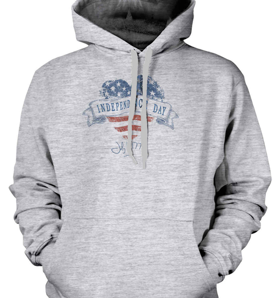 Independence Day. July, 4 1776. Gildan Heavyweight Pullover Fleece Sweatshirt.-2