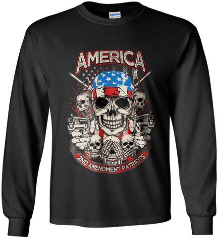 America. 2nd Amendment Patriots. Gildan Ultra Cotton Long Sleeve Shirt.