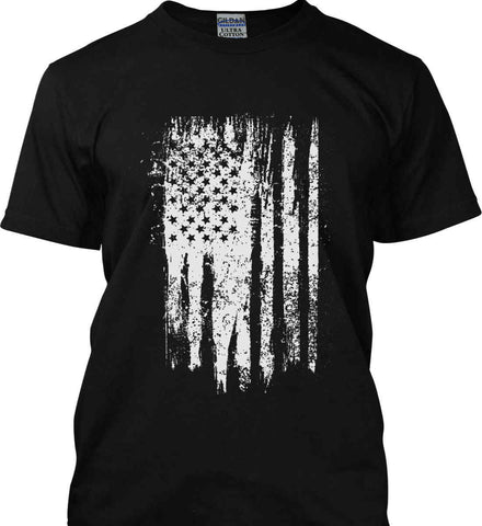 Grungy Grey USA Flag Gildan Tall Ultra Cotton T-Shirt.