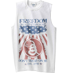 Freedom. Give me liberty or give me death. Gildan Men's Ultra Cotton Sleeveless T-Shirt.