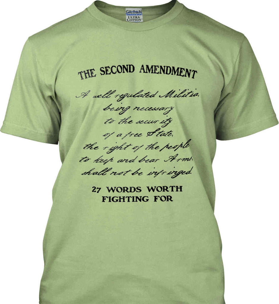 The Second Amendment. 27 Words Worth Fighting For. Second Amendment. Black Print. Gildan Ultra Cotton T-Shirt.-6