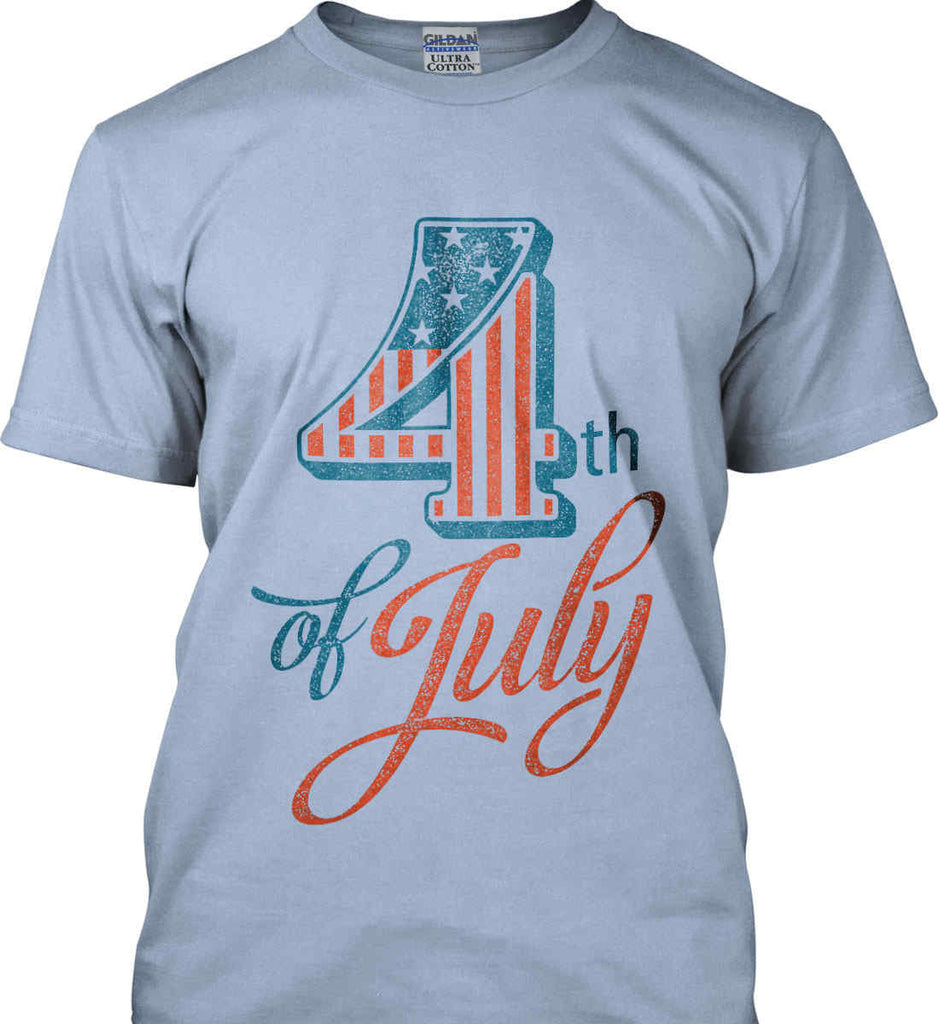 4th of July. Faded Grunge. Gildan Ultra Cotton T-Shirt.-3