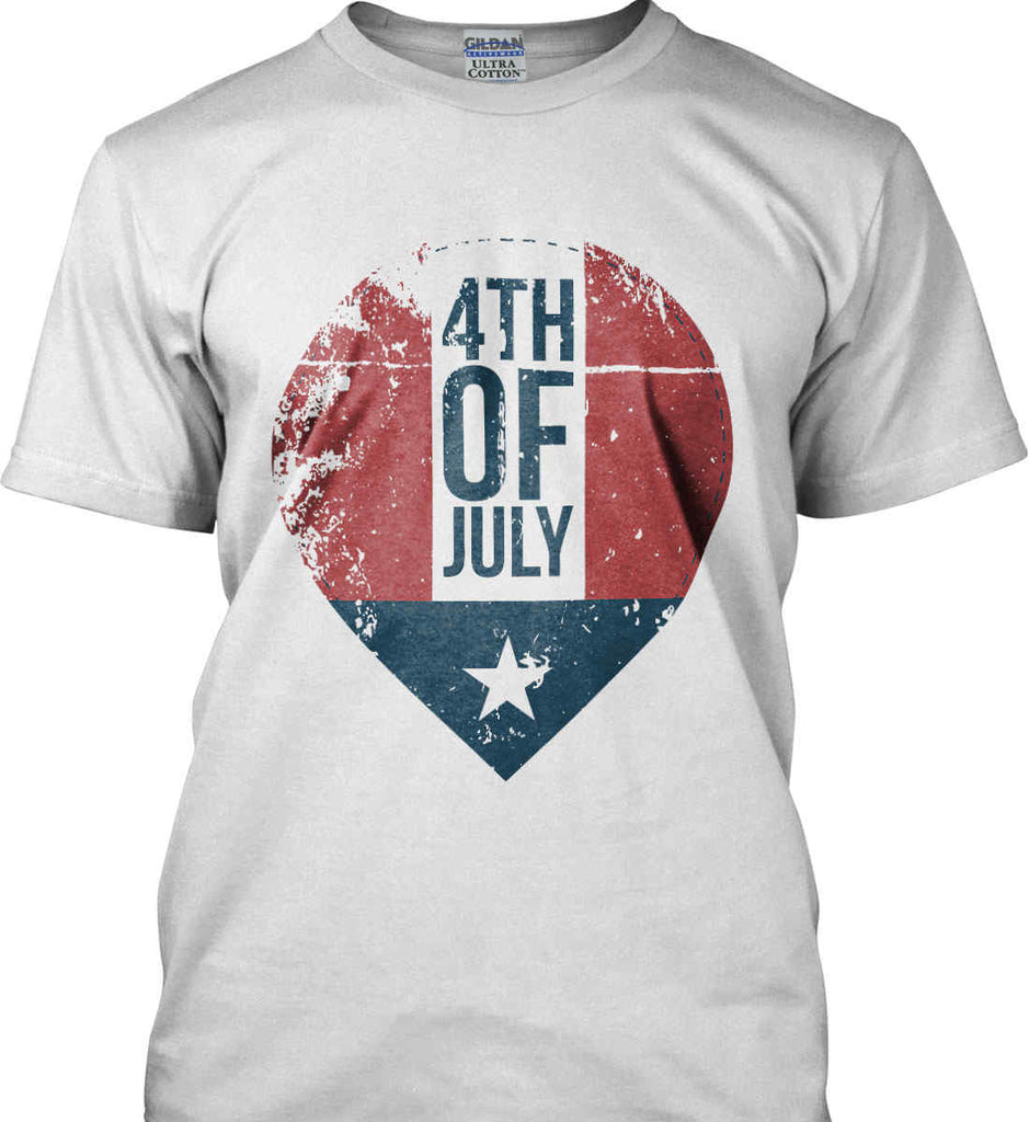 4th of July with Star. Gildan Ultra Cotton T-Shirt.-4