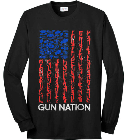 Gun Nation. Port & Co. Long Sleeve Shirt. Made in the USA..
