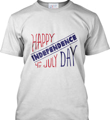 Happy Independence Day. 4th of July. Port & Co. Made in the USA T-Shirt.