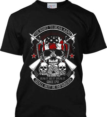 The Right to Bear Arms. Shall Not Be Infringed. Since 1791. Port & Co. Made in the USA T-Shirt.
