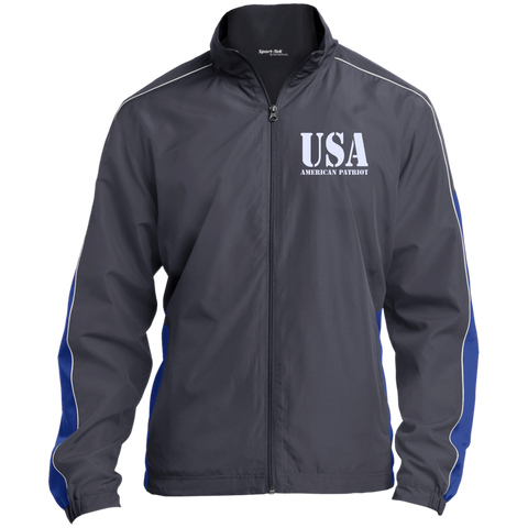 USA. American Patriot. Sport-Tek Colorblock Windbreaker. (Embroidered)