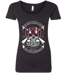 The Right to Bear Arms. Shall Not Be Infringed. Since 1791. Women's: Next Level Ladies' Triblend Scoop.