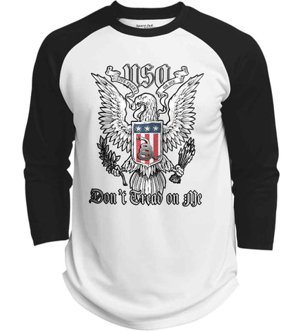 Don't Tread on Me. Eagle with Shield and Rattlesnake. Sport-Tek Polyester Game Baseball Jersey.