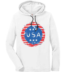 Grungy USA. Anvil Long Sleeve T-Shirt Hoodie.