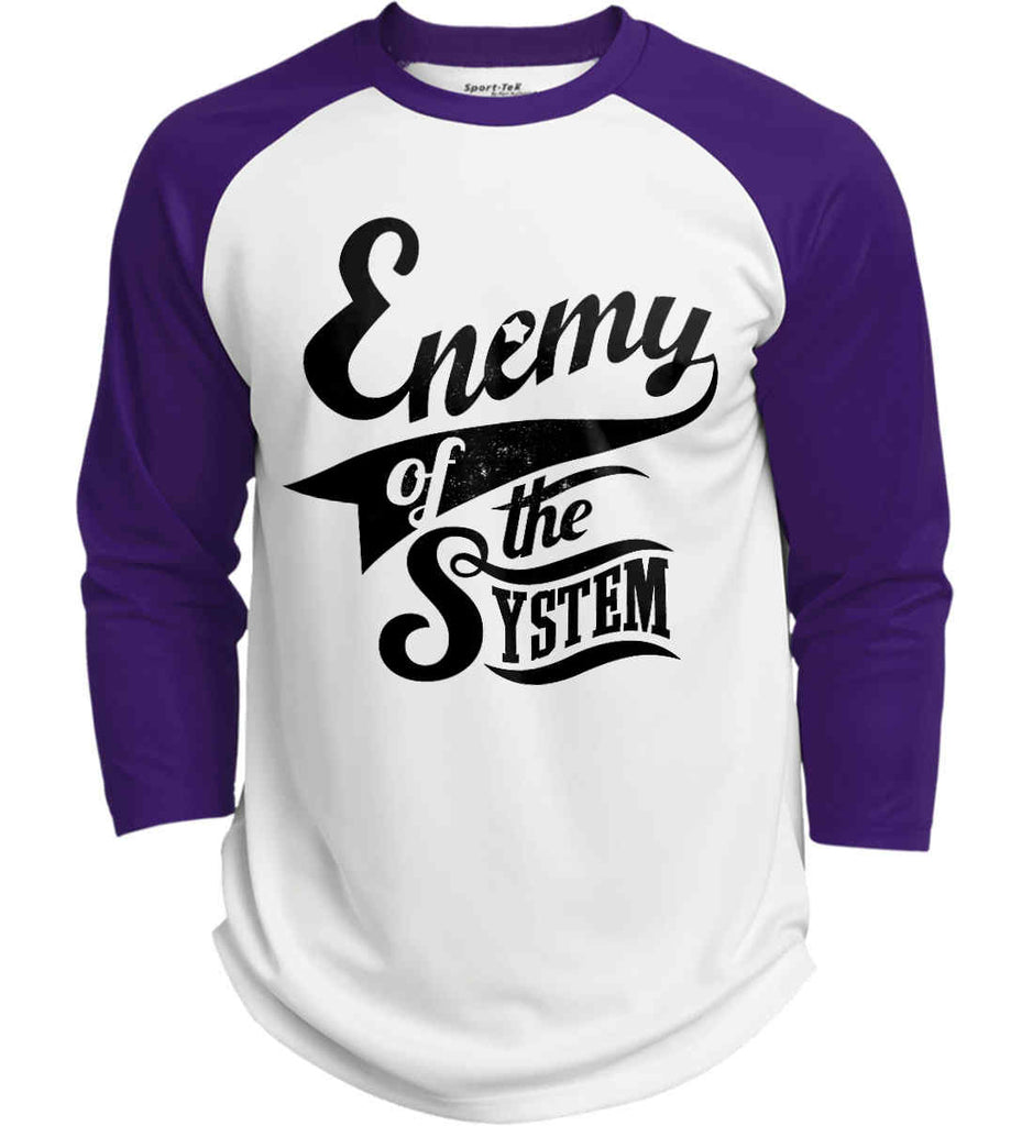 Enemy of The System. Sport-Tek Polyester Game Baseball Jersey.-4