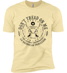 Don't Tread on Me: The Second Amendment: An American Tradition. Black Print. Next Level Premium Short Sleeve T-Shirt.