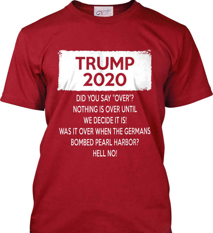 TRUMP 2020. Port & Co. Made in the USA T-Shirt.