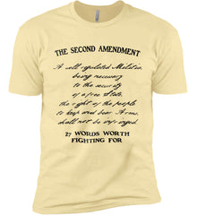 The Second Amendment. 27 Words Worth Fighting For. Second Amendment. Black Print. Next Level Premium Short Sleeve T-Shirt.