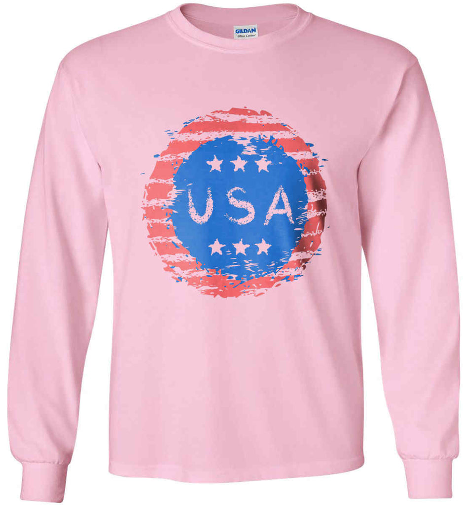 Grungy USA. Gildan Ultra Cotton Long Sleeve Shirt.-7