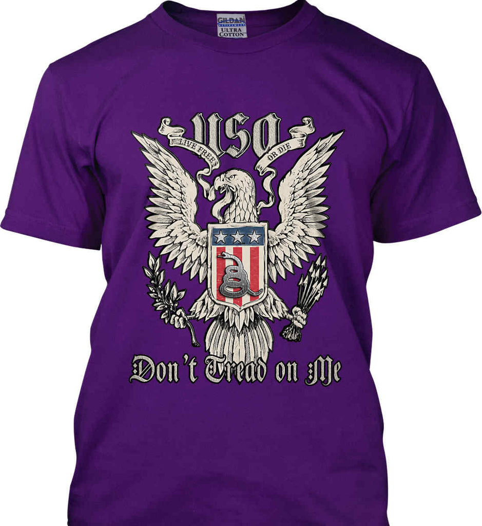 Don't Tread on Me. Eagle with Shield and Rattlesnake. Gildan Ultra Cotton T-Shirt.-9