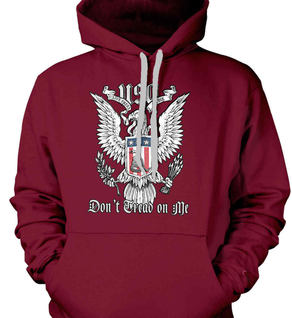 Don't Tread on Me. Eagle with Shield and Rattlesnake. Gildan Heavyweight Pullover Fleece Sweatshirt.-5