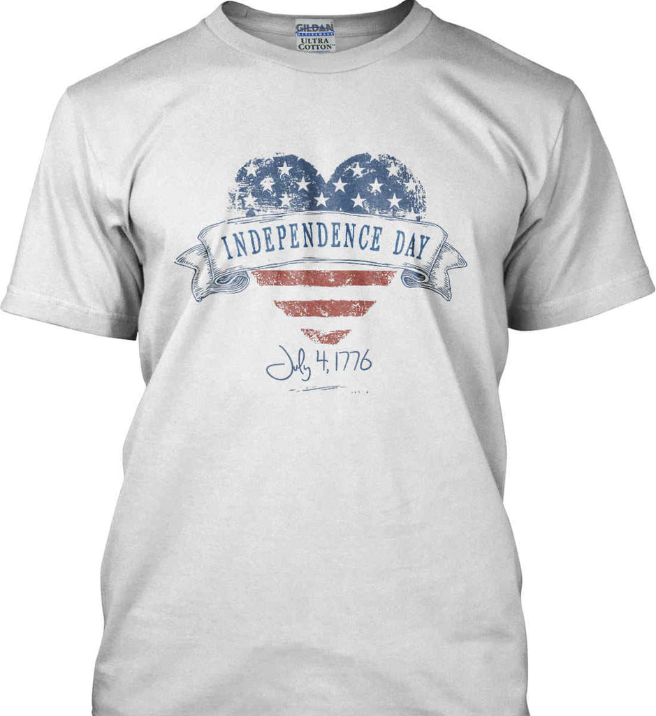 Independence Day. July, 4 1776. Gildan Tall Ultra Cotton T-Shirt.-1